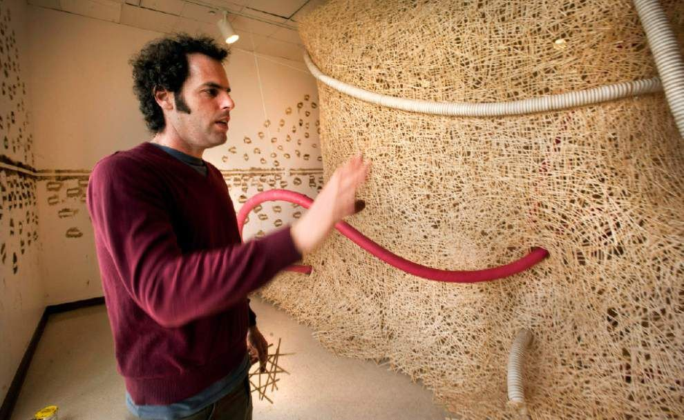 Stirring art   Coffee shops provided inspiration for LASM sculpture artist _lowres