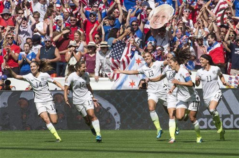 U.S. defeats Japan 5-2 to win Women's World Cup _lowres