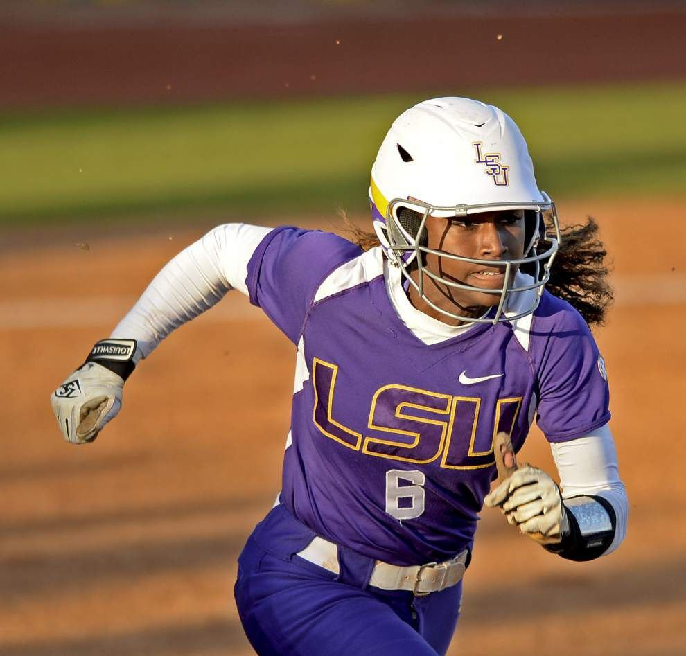 LSU softball opponents ready for center fielder A.J. Andrews to graduate _lowres