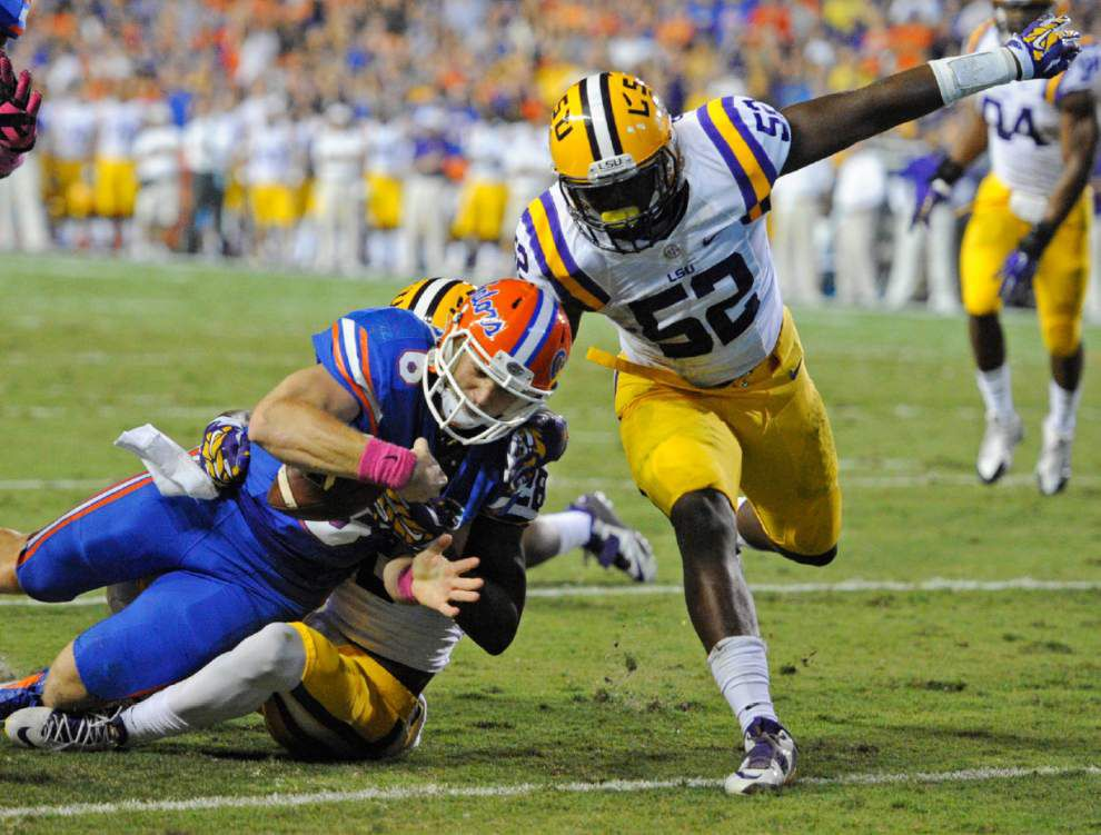 Video: LSU linebacker Kendell Beckwith says his throat was hurting from shouting calls during the Florida game _lowres