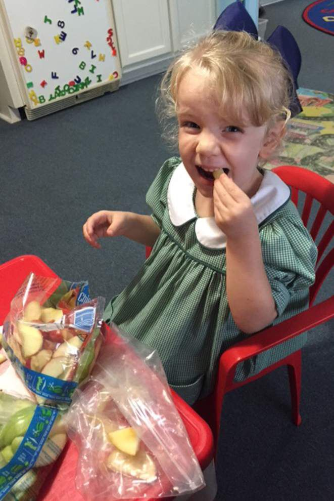 A is for apple at St. Elizabeth Ann Seton _lowres