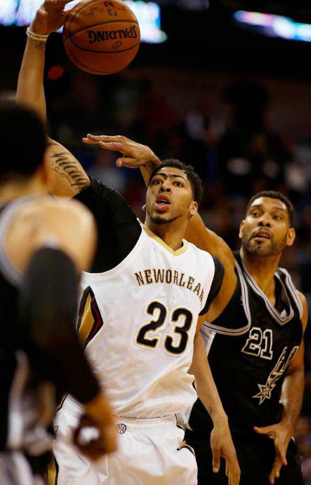 Clamping down: Since Anthony Davis' 59-point outburst, opposing defenses have done whatever it takes to slow down the Pelicans star _lowres
