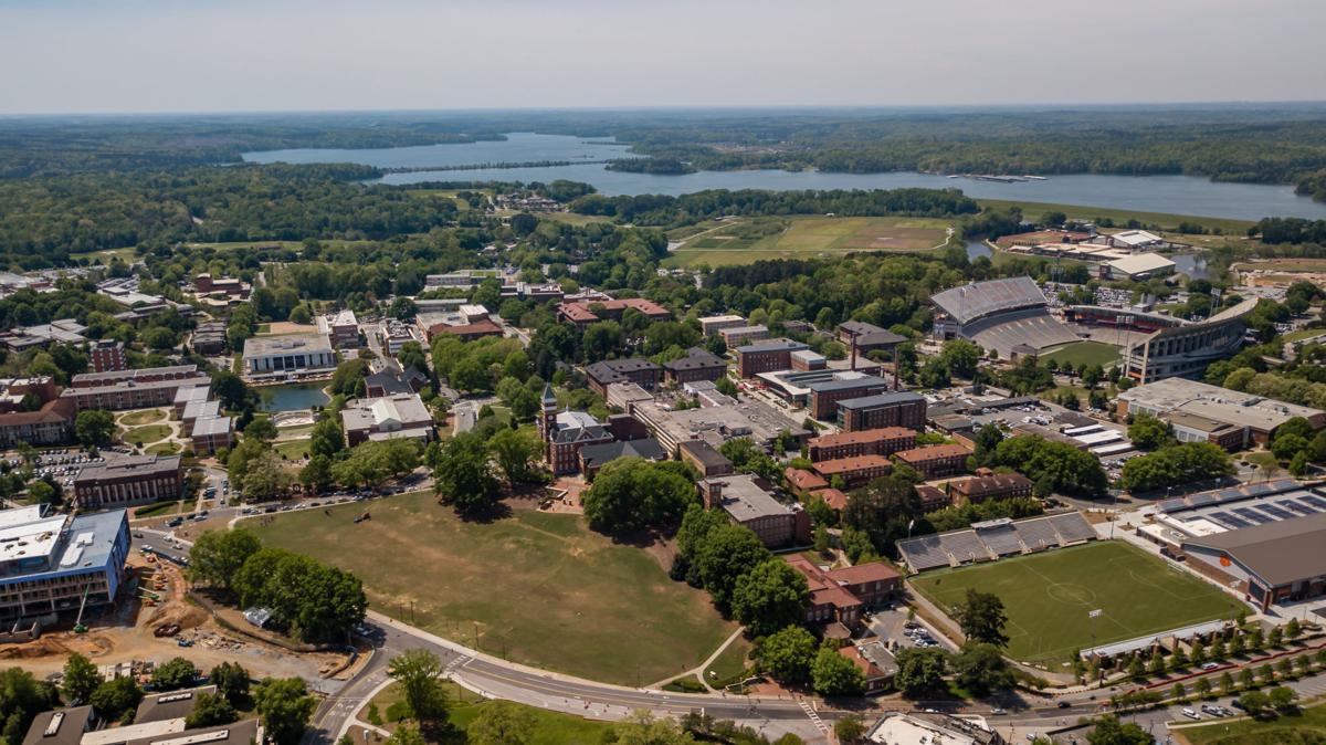 Clemson campus aerial