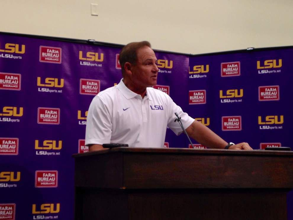 LSU football coach Les Miles says safety Jalen Mills to play, but no word on starting quarterback _lowres