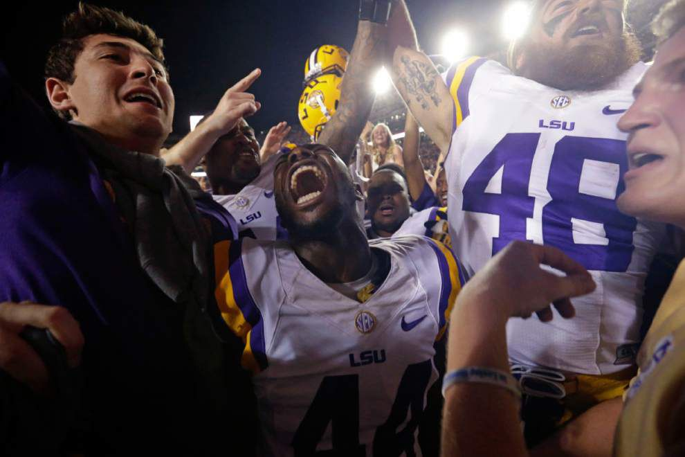 Moving on up: LSU is No. 16 in the Associated Press Top 25 poll following upset of Ole Miss _lowres