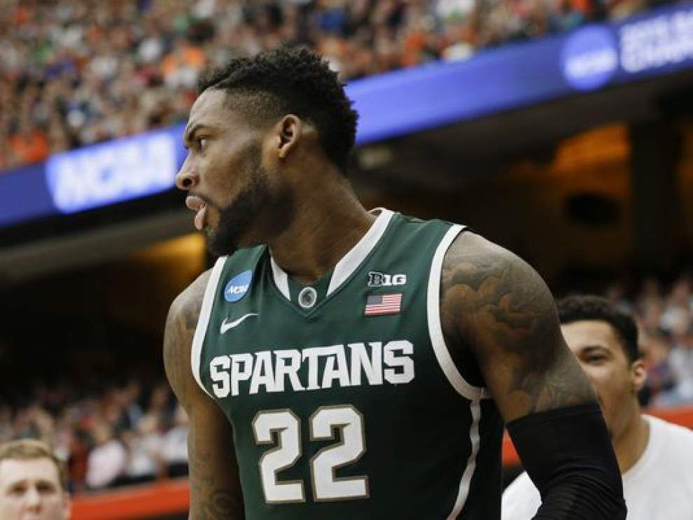 Pelicans draft Michigan State's Branden Dawson, sell his rights to the Los Angeles Clippers _lowres