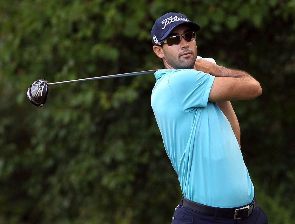 Adam Scott tied for the lead at Barclays _lowres