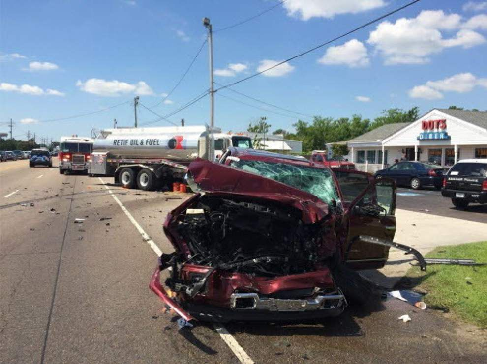 Metairie man dies from injuries sustained in car crash with fuel truck in Kenner _lowres