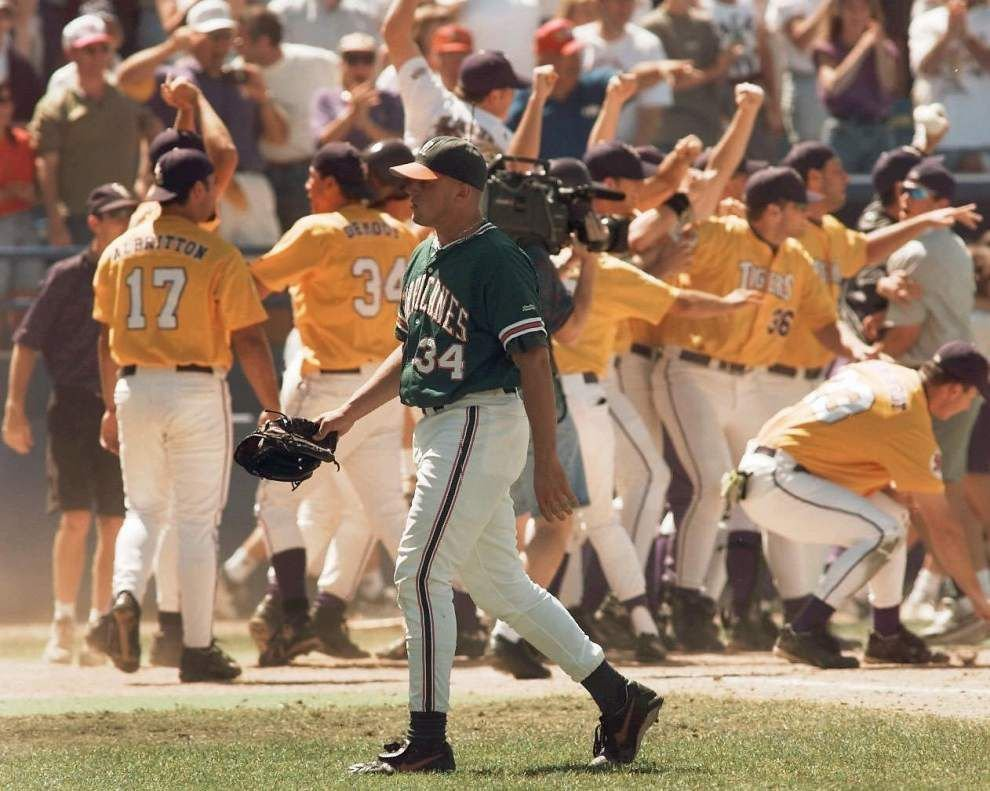 Robbie Morrison, who gave up Warren Morris' 1996 College World Series home run, to throw first pitch Sunday at LSU _lowres