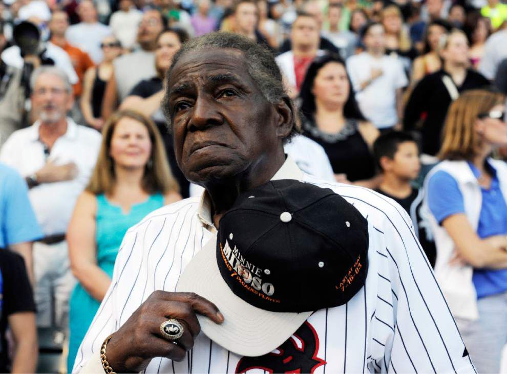 First black Latino star Minnie Minoso dies _lowres