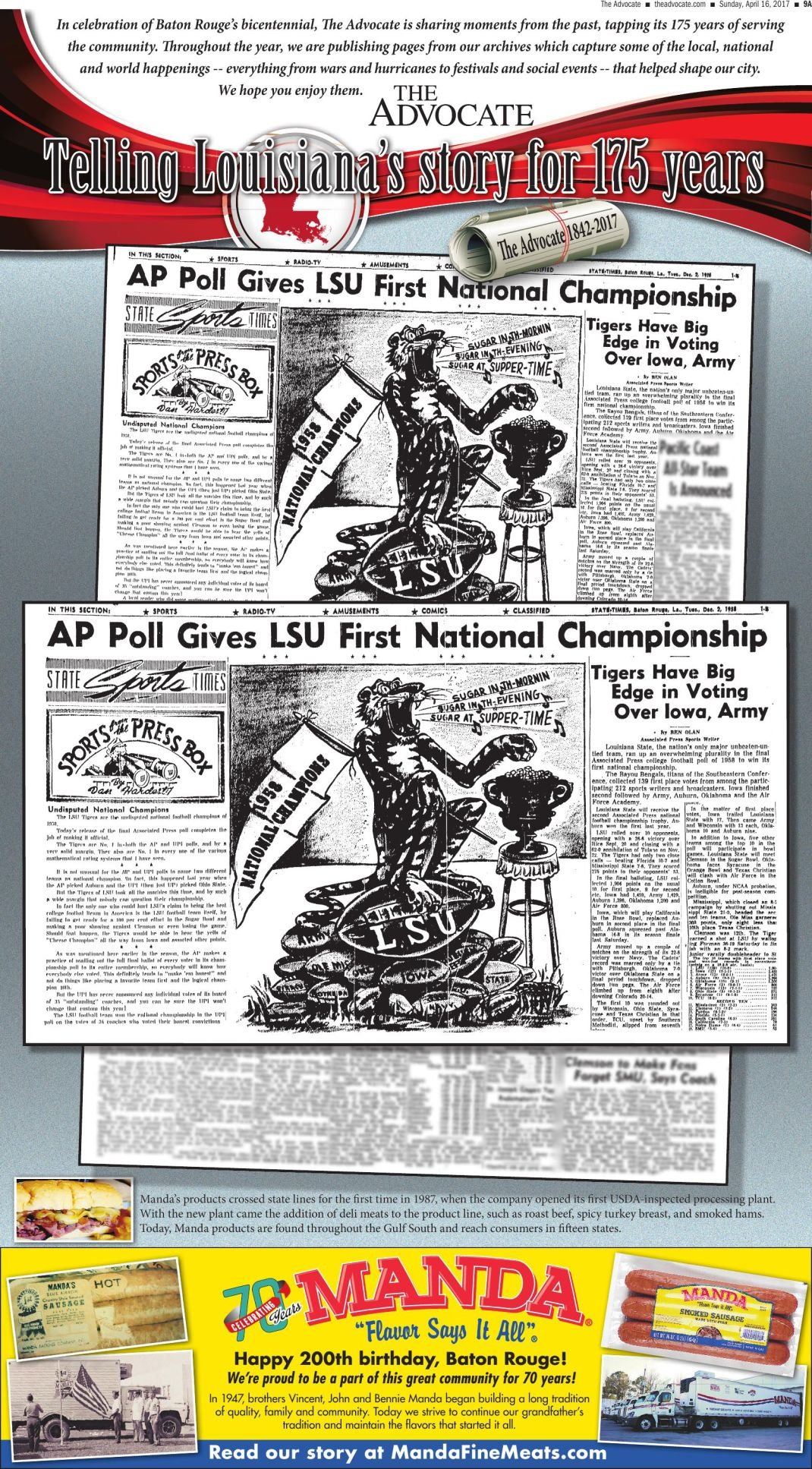 AP Poll gives LSU first National Championship