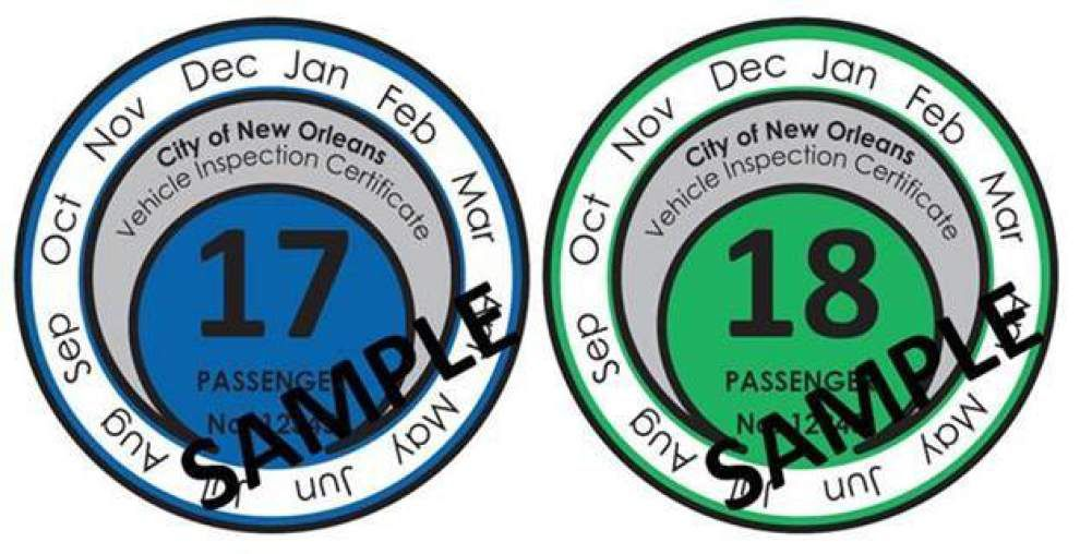 New Orleans drivers to get 2-year brake tags, with easy-to-see expiration dates _lowres