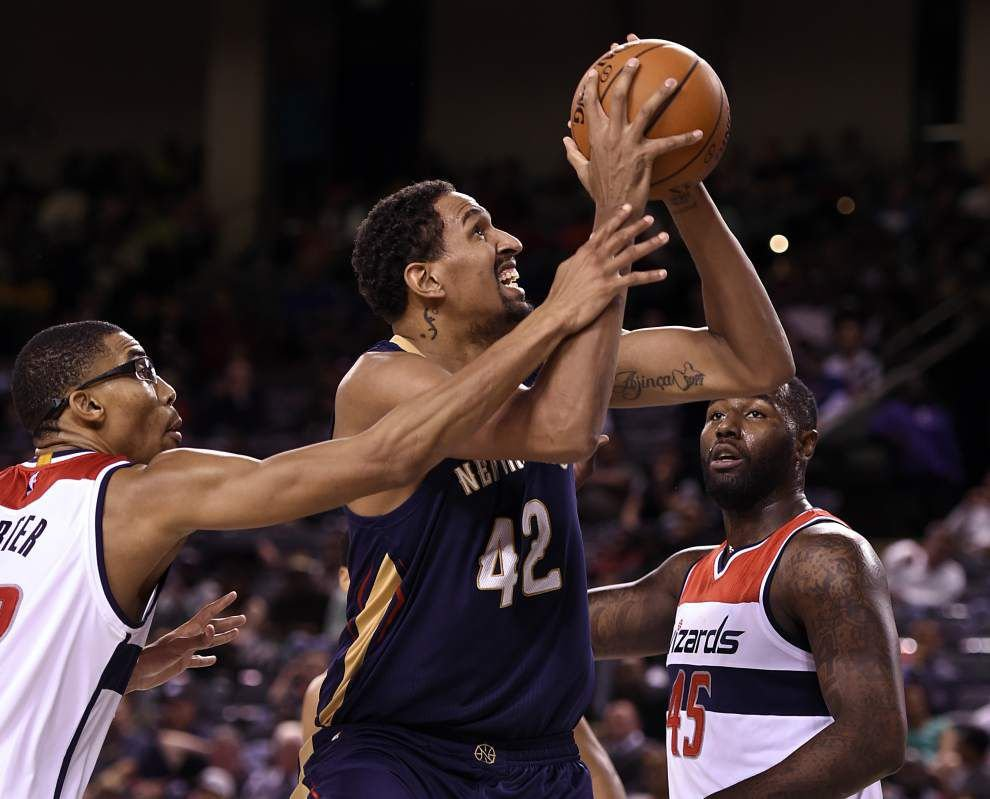 Davis hurt but OK as Pelicans slip by Wizards _lowres
