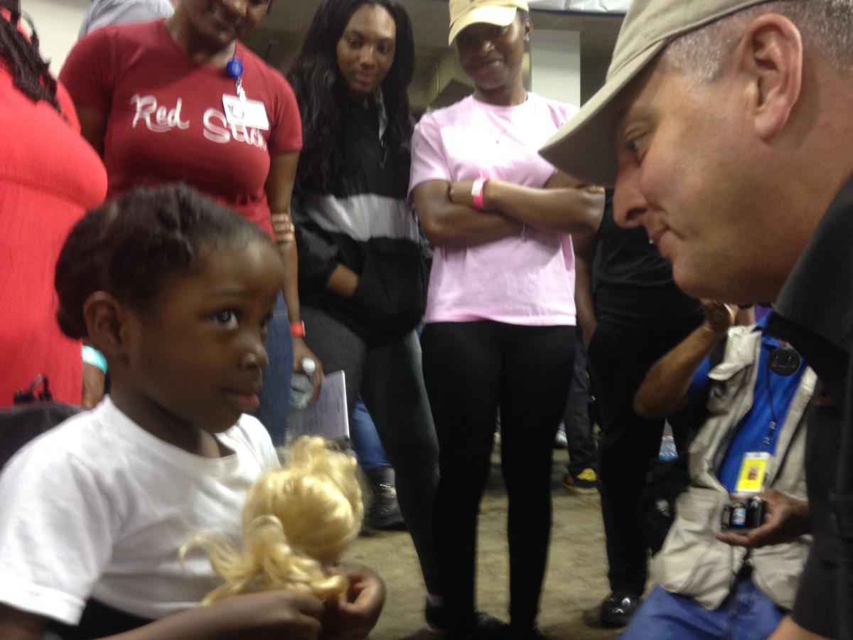 Gov. John Bel Edwards shelter visit
