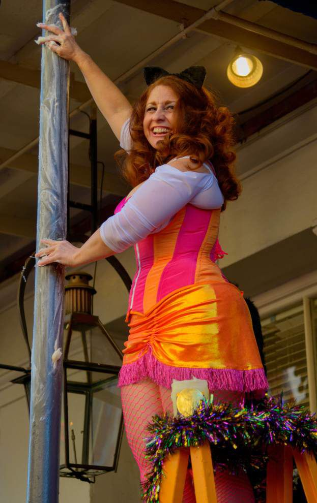 Photos: Big, colorful crowd turns out for 45th Annual 'Greasing of the Poles' on Bourbon Street _lowres