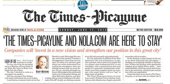 More layoffs at NOLA.com   The Times-Picayune_lowres