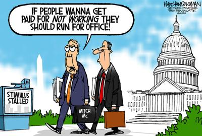 Walt Handelsman: Stimulus Stalled