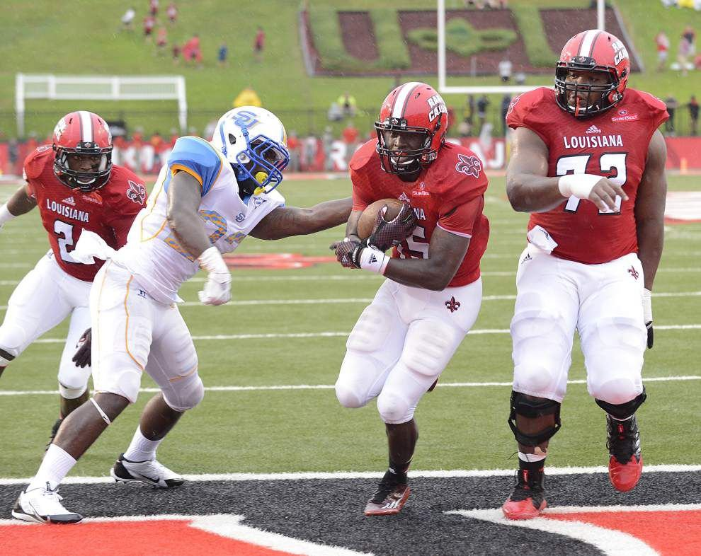 Reports from UL-Lafayette's 45-6 victory against Southern _lowres