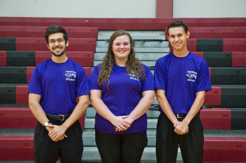 Drum majors work as a team to lead Dutchtown Sound _lowres