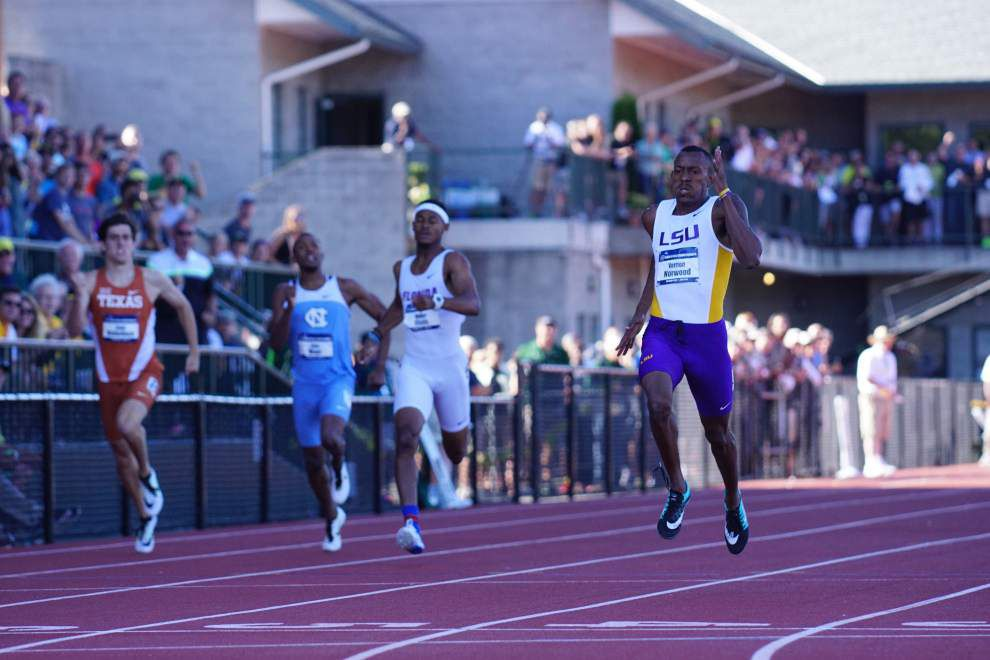 LSU's Vernon Norwood cruises to win in 400 meters at NCAA meet _lowres