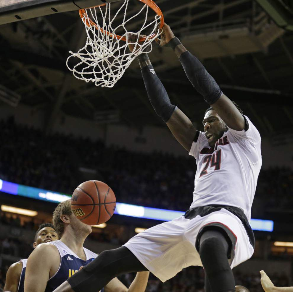 Louisville measures up, avoids upset bid from UC Irvine (and 7-foot-6 standout Mamadou Ndiaye) _lowres