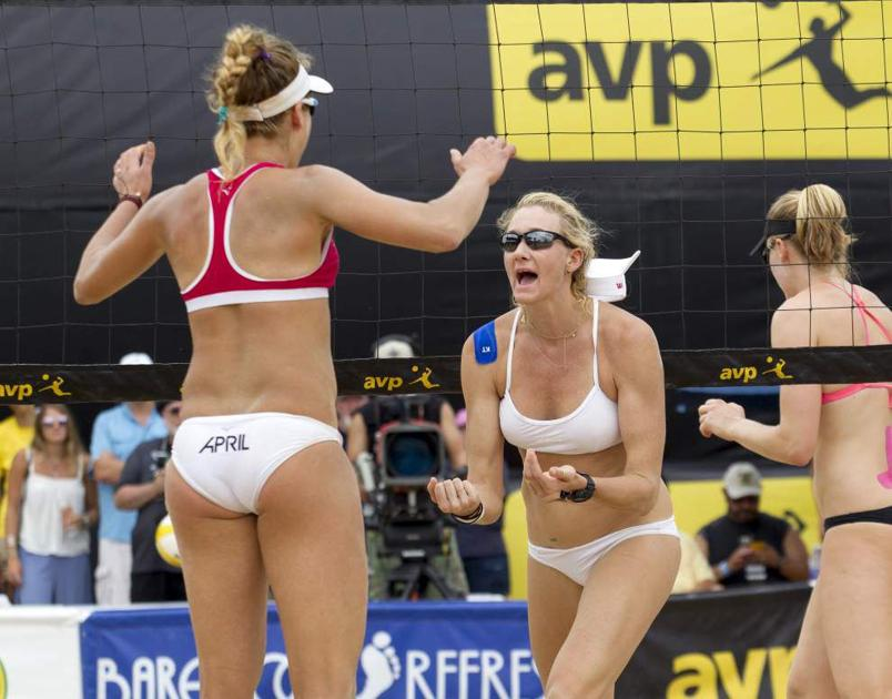 April Ross teams with Kerri Walsh Jennings to defeat former partner Jen Kessy in AVP final