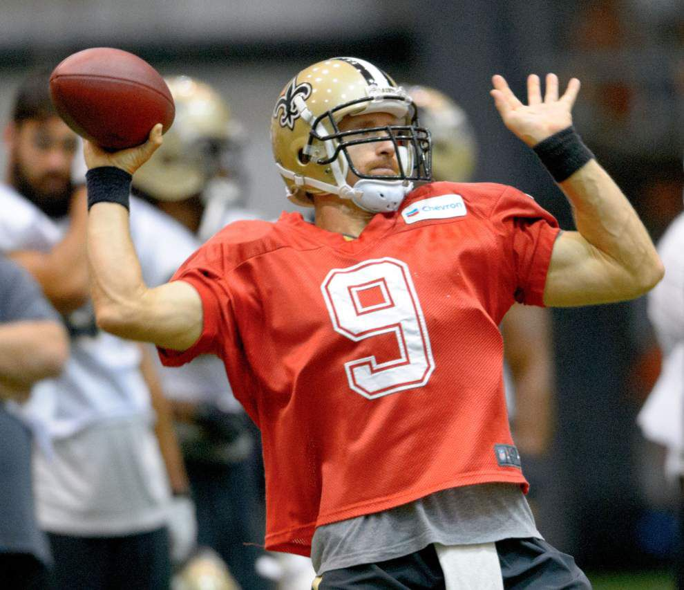 Drew Brees' passing accuracy highlights Saints' practice _lowres