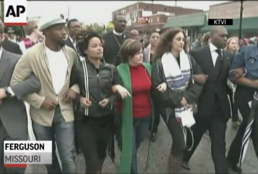 Protesters gather for 'Moral Monday' in Ferguson _lowres