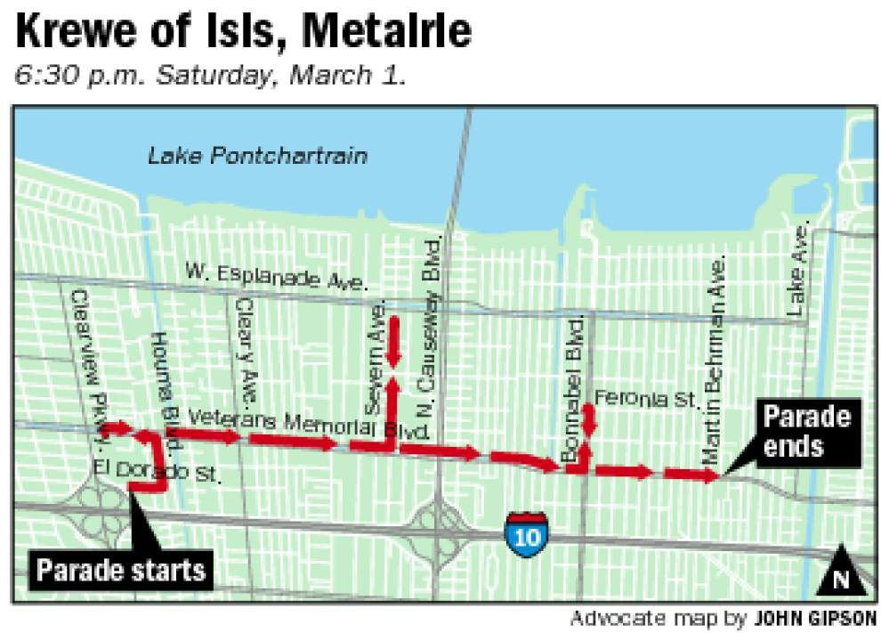 New Orleans parade routes for Saturday, March 1, 2014 _lowres