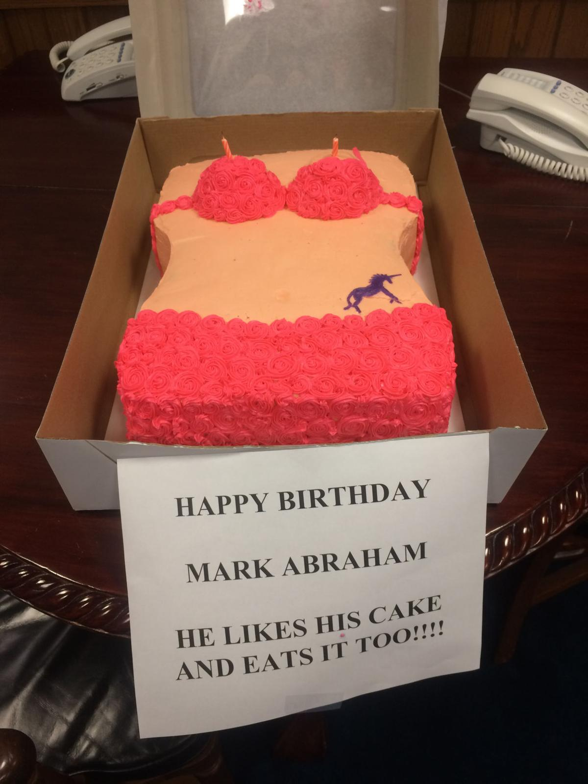 Surprising Bikini Birthday Cake At State Capitol Stirs Anger And Disgust Funny Birthday Cards Online Sheoxdamsfinfo