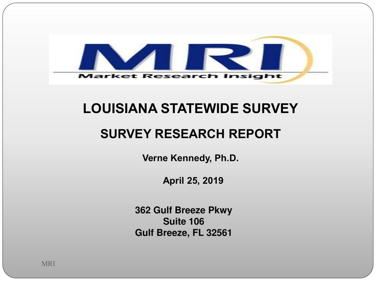 LOUISIANA STATEWIDE SURVEY APRIL 25 RELEASE 2019
