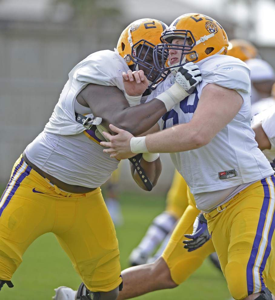 LSU offensive lineman and native Nigerian Chidi Okeke flourishing despite little experience with football _lowres