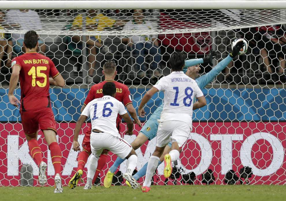 U.S. soccer team is down and out after 2-1 loss to Belgium _lowres