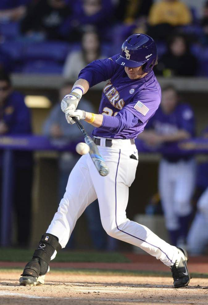 Behind another offensive outburst from Jake Fraley, LSU beats Princeton 7-2 to secure series win _lowres