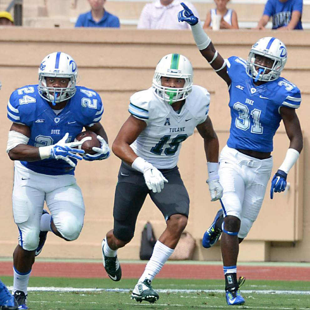 Mistakes, special teams doom Tulane at Duke _lowres