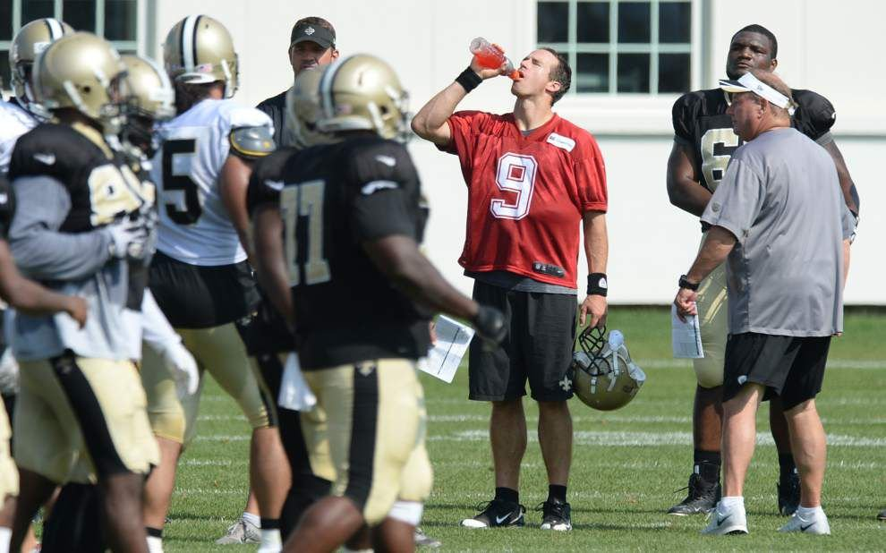 Brees held out of the Saints' Wednesday practice _lowres