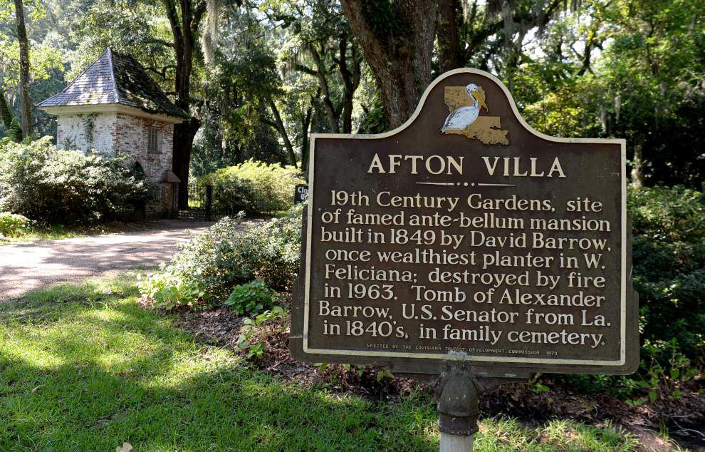 The grounds of Afton Villa remain an attraction years after fire destroyed home _lowres