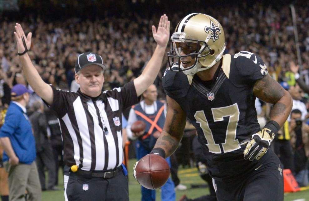 Saints wide receiver Robert Meachem is a new addition to team injury report _lowres