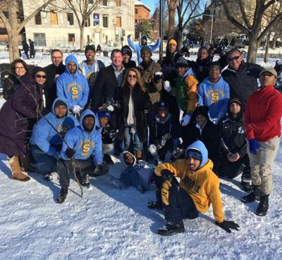 Party on! Blizzard strands big-name Louisiana guests in D.C., but they have a ball at Washington Mardi Gras _lowres