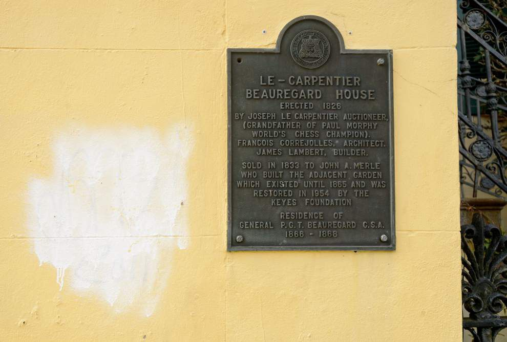 Church, historic house vandalized in French Quarter _lowres