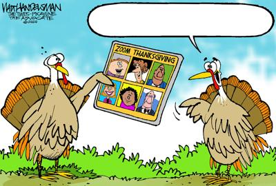 Can you tell us what these Thanksgiving turkeys are up to in Walt Handelsman's latest Cartoon Caption Contest?!