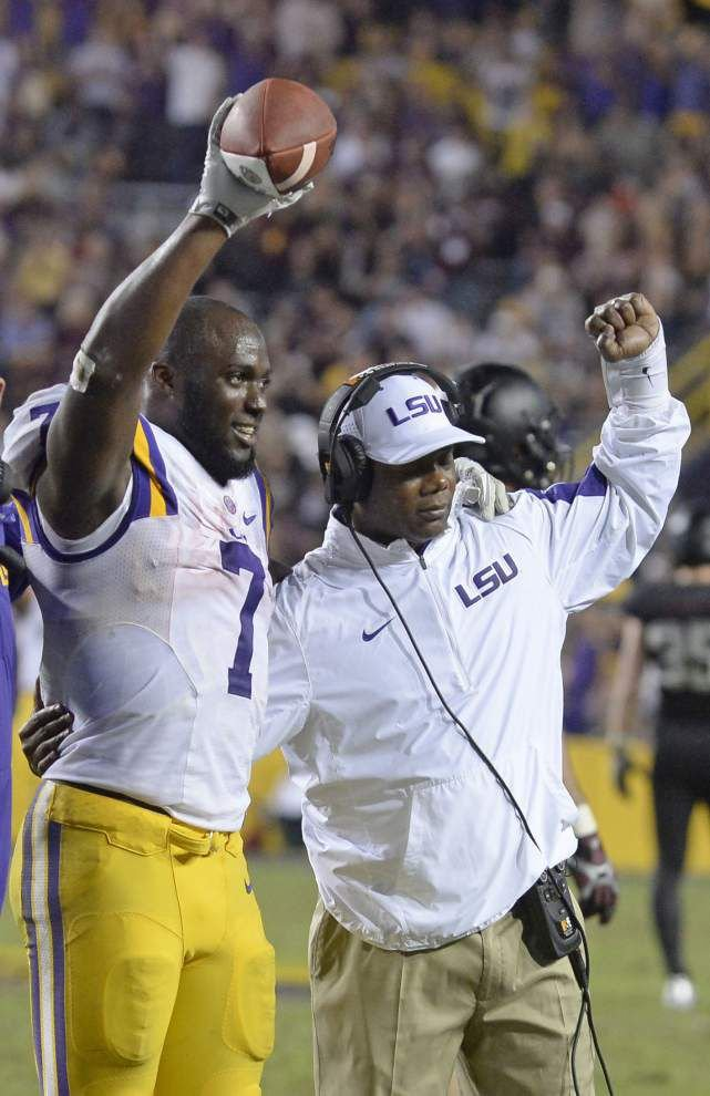 'It's a tremendous loss:' LSU must keep together top-ranked recruiting class as Frank Wilson leaves for a chance to be a head coach _lowres
