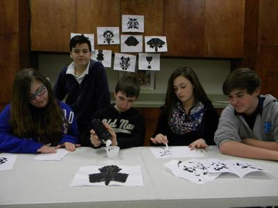Students explore meaning of ink blots _lowres