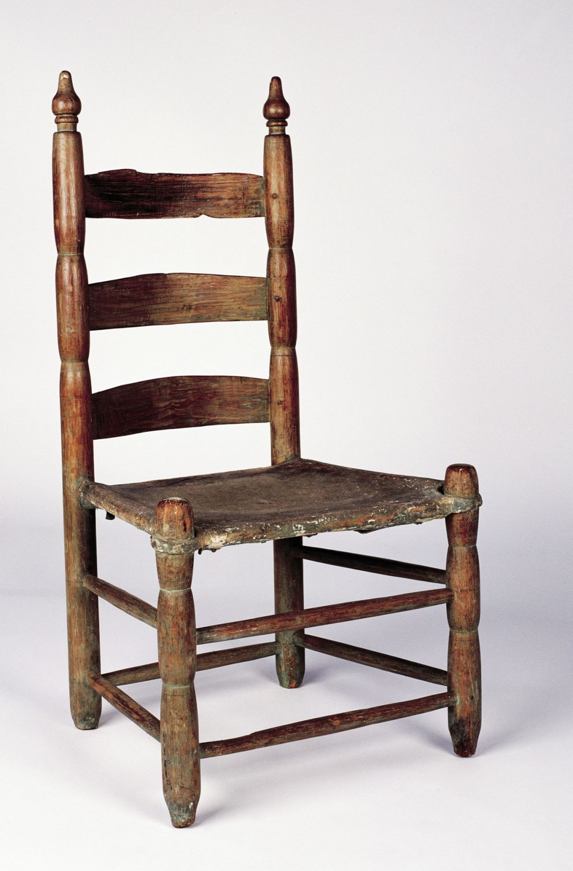 CONTRIBUTED PHOTO COURTESY OF WAYNE AND CHERYL STROMEYER, PHOTO BY JIM  ZIETZ / THNOC -- Acadian-style ladder-back side chair, 1780-1820, made of  hardwood ... - For Lovers Of Antique Furniture, Two Very Different Styles Home