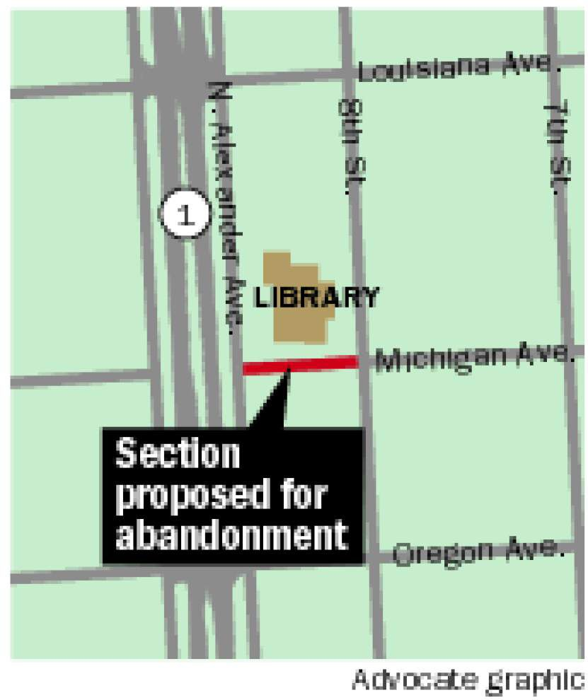 West Baton Rouge library director asks Port Allen council to abandon part of a road for library expansion _lowres