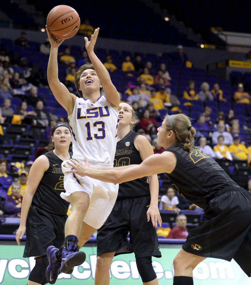 LSU women rally to hold off Missouri 74-65 _lowres