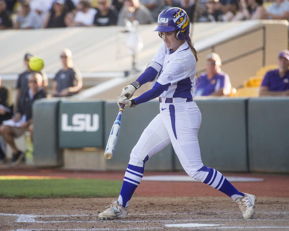 'Very superstitious:' LSU softball players are apt to put their faith in everything from a higher power to a stuffed bear _lowres