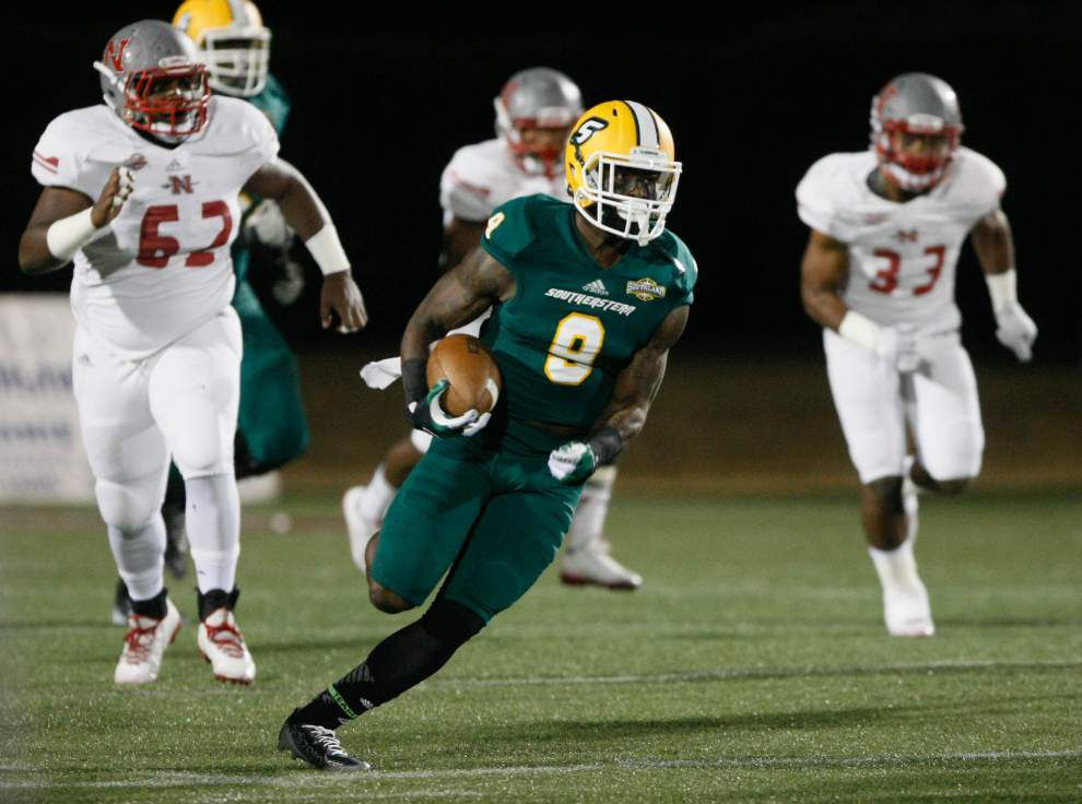 Southeastern rips Nicholls State 62-3 to claim at least share of Southland Conference championship _lowres