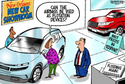 Walt Handelsman: More and more and more flooding...
