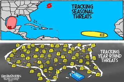 Walt Handelsman: Threat Tracking